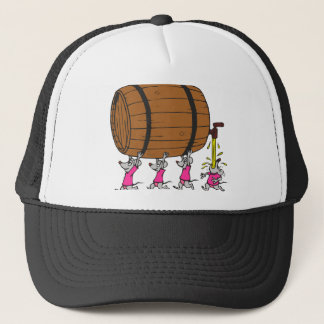 4 Drunk Mice Trucker Hat