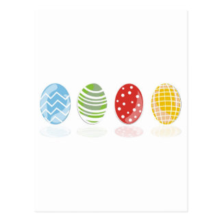 4 easter eggs post card