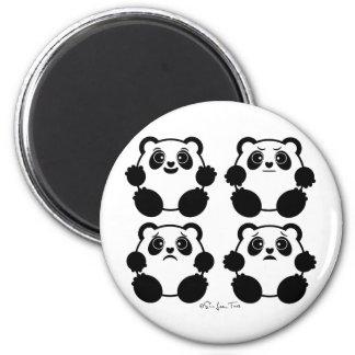 4 Emotional Pandas Magnet