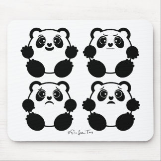 4 Emotional Pandas Mouse Pad