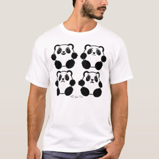 4 Emotional Pandas T-Shirt