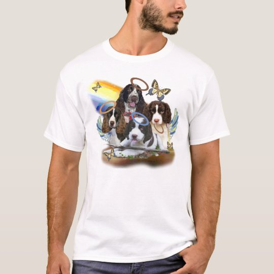 4 English Springers Against Rainbow T-Shirt