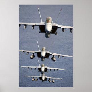 4 FA-18 Super Hornets Print