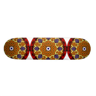 4 Flames Round Shield Alternate Skate Decks