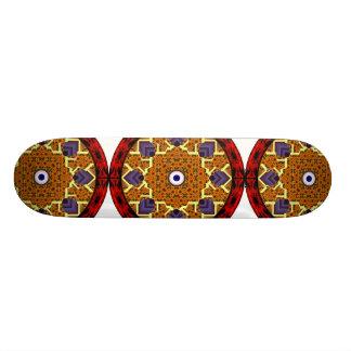 4 Flames Round Shield Alternate Skateboards