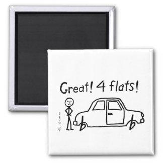 4 Flats Square Magnet