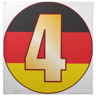 4 GERMANY Gold Napkin
