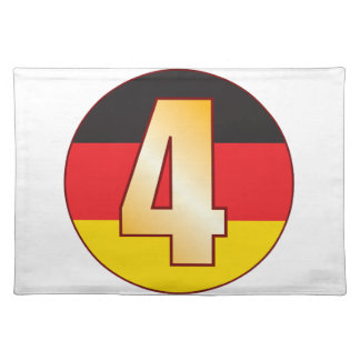 4 GERMANY Gold Placemat