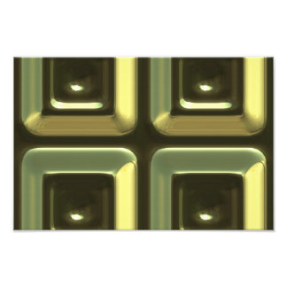 4 green squares abstract design photo