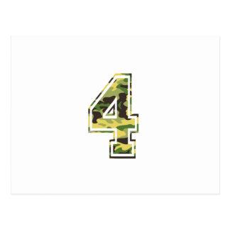 4 Green Yellow Camo Postcard