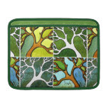 4 Hand Carved Trees in Watercolor and Pen & Ink MacBook Air Sleeve