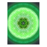 4 heart chakra green created by Tutti Postcards