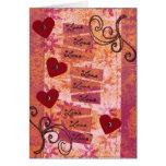4 Hearts 9 Loves Greeting Card