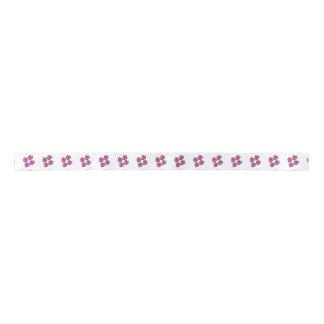 4 hearts black and pink ribbon satin ribbon