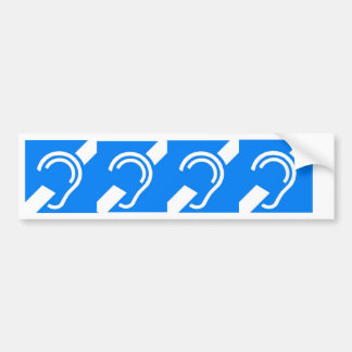 4 International Symbols for the Deaf Bumper Sticker