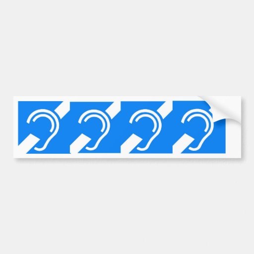 4 International Symbols for the Deaf Bumper Stickers