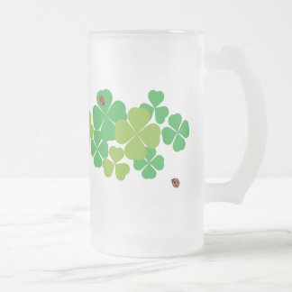 4 Leaf Clover and Ladybug_St. Patrick's Day Coffee Mugs