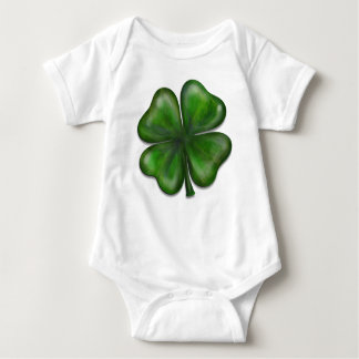 4 leaf clover baby bodysuit