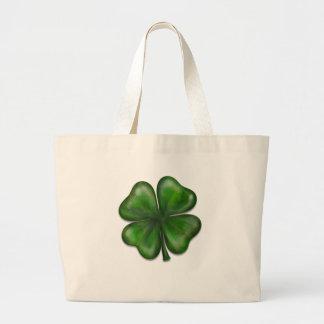 4 leaf clover tote bag