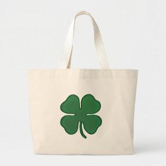 4 leaf clover canvas bag
