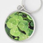 4 Leaf Clover Good Luck Charm Keychains