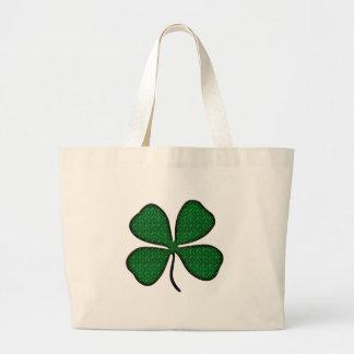4 leaf clover jumbo tote bag