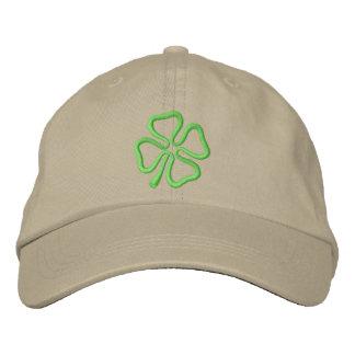 4-leaf Clover Outline Embroidered Hats