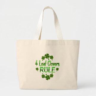 4 Leaf Clovers RULE Jumbo Tote Bag