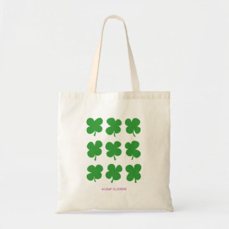 4-leaf clovers tote bag