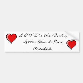 4-Letter Word Humor Bumper Sticker