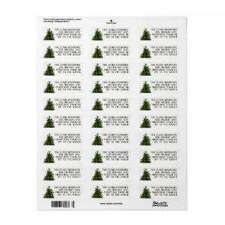 4 Line Christmas Tree Return Address Labels