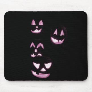 4 Lit Jack-O-Lanterns - Pink Mousepad