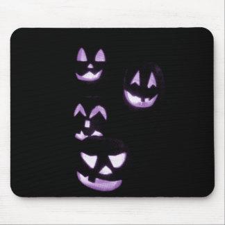 4 Lit Jack-O-Lanterns - Purple Mousepads