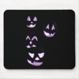 4 Lit Jack-O-Lanterns - Purple Mousepad