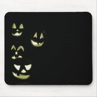 4 Lit Jack-O-Lanterns - Yellow Mouse Pad