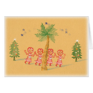 4 Little Christmas Maids Card
