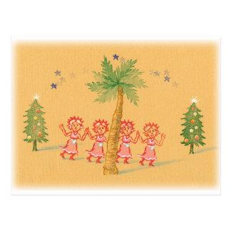 4 Little Christmas Maids Postcard