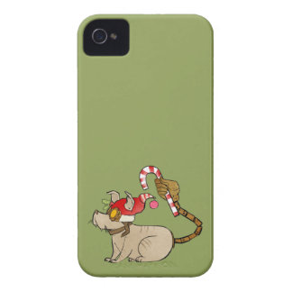 4 Little Monsters - Tesla Holiday Logo iPhone 4 Covers