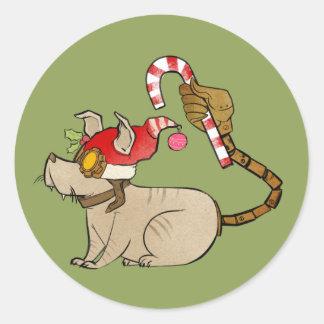 4 Little Monsters - Tesla Holiday Logo Round Sticker