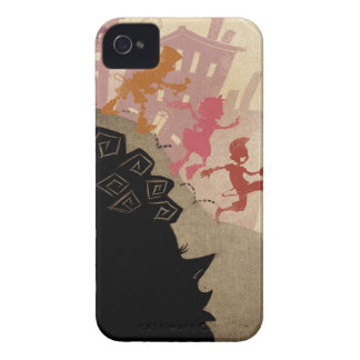 4 Little Monsters - Walking Through Town iPhone 4 Case-Mate Case