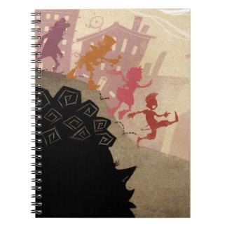 4 Little Monsters - Walking Through Town Notebook