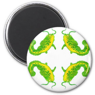 4 Lucky Fish 6 Cm Round Magnet