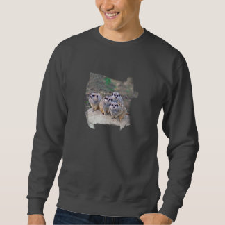 4 Meerkats Peering Sweatshirt