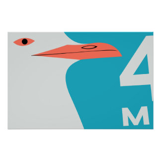 4 Mile Seagull Poster