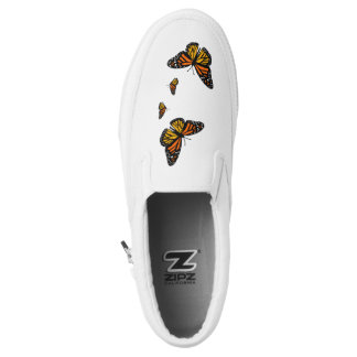 4 Monarch Butterflies Slip On Canvas Shoes