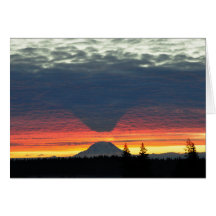 #4 Mount Rainier and its Shadow Card