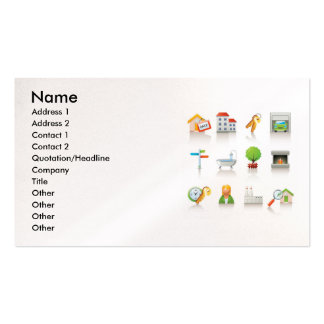 4 , Name, Address 1, Address 2, Contact 1, Cont... Business Card Templates