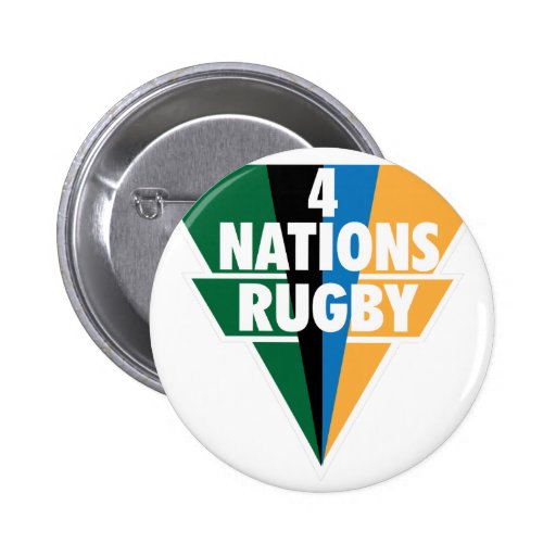 4 Nations Rugby Pinback Button