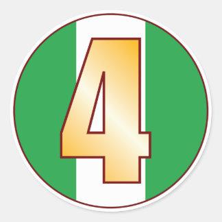 4 NIGERIA Gold Round Sticker