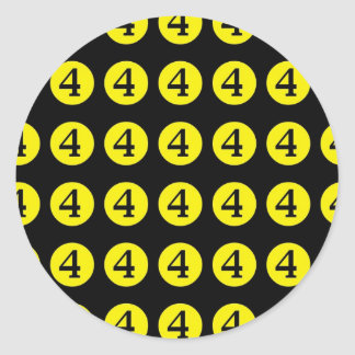 4 # Number Four Sticker